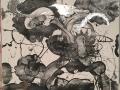 Carborundum and Silver Painting (Impatiens)