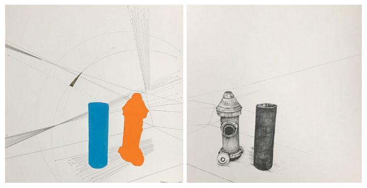 Fire Hydrant & Pylon (Abstract) / Fire Hydrant & Pylon