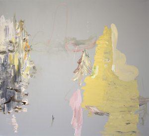 Deborah Dancy Double Delight 2015 Oil on canvas 36 x 40 inches