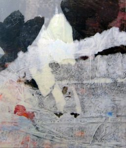"Melissa Dickenson, Nimbus, 2016, acrylic and polyethylene films, 20"" x 16"""