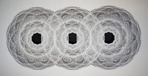 """Tahiti Pehrson, Epoch Trillium, 2016, hand cut paper, 42"""" x 72"""""""
